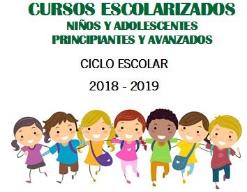 CURSOS ESCOLARIZADOS 2018-2019