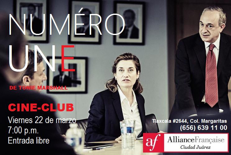 """Cine-Club en la Alianza Francesa: """"NUMÉRO UNE"""""""