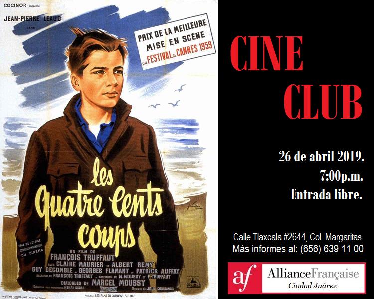 """Cine_club en la Alianza Francesa: """"Les 400 coups"""""""