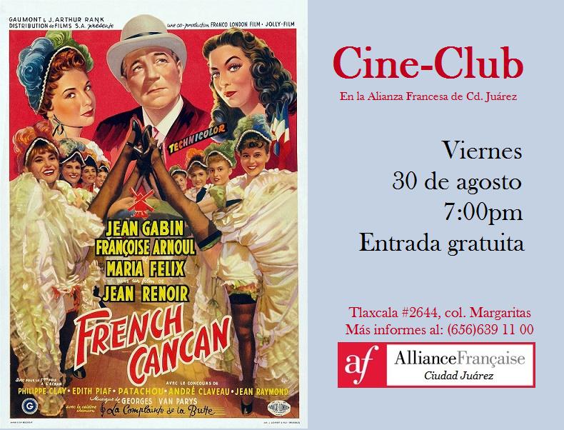 Cine-Club en la Alianza Francesa, Película French cancan