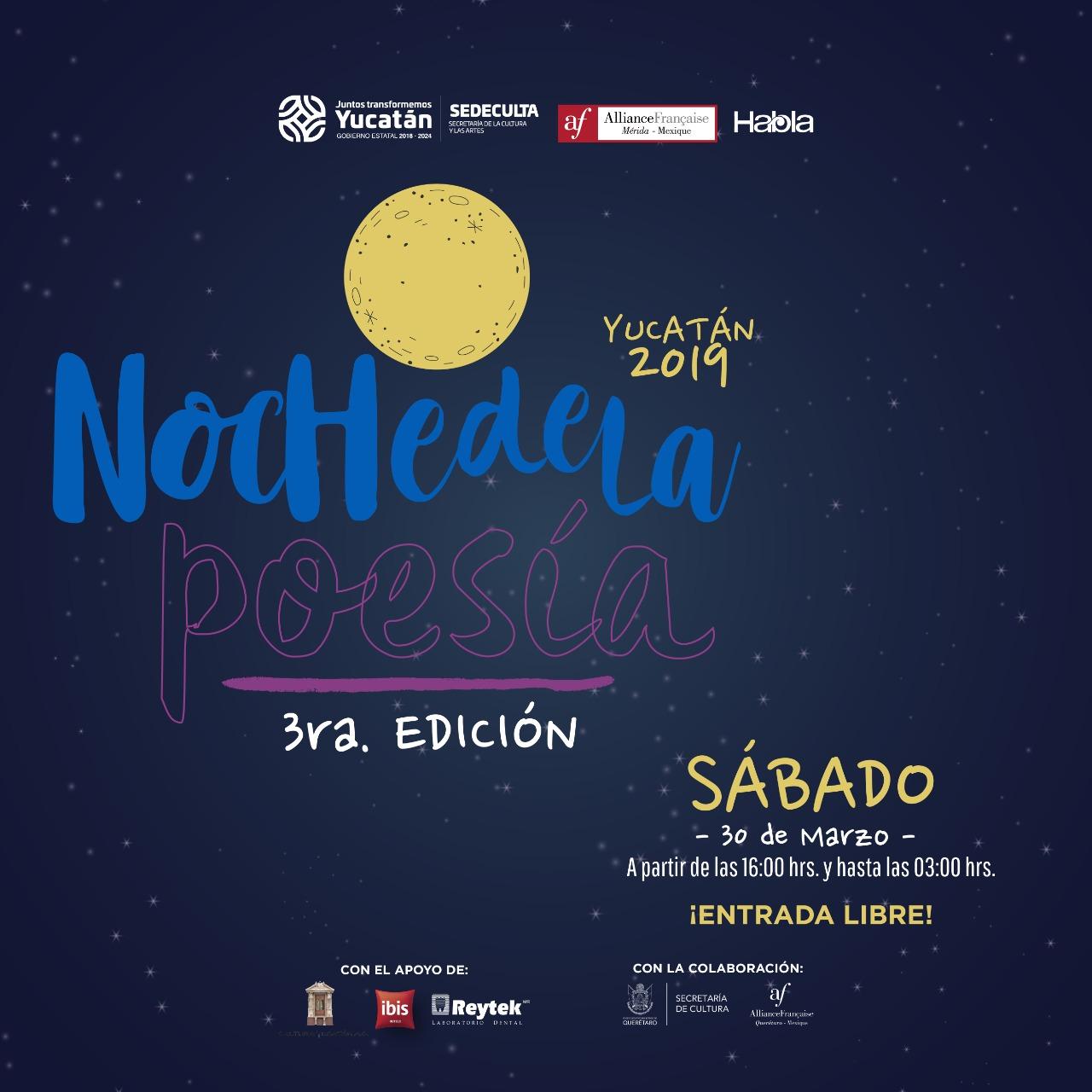 3ra Noche de la Poesía, Yucatan