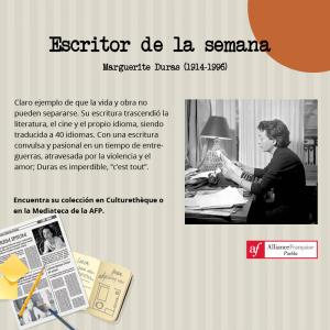 La autora de la semana: Marguerite Duras