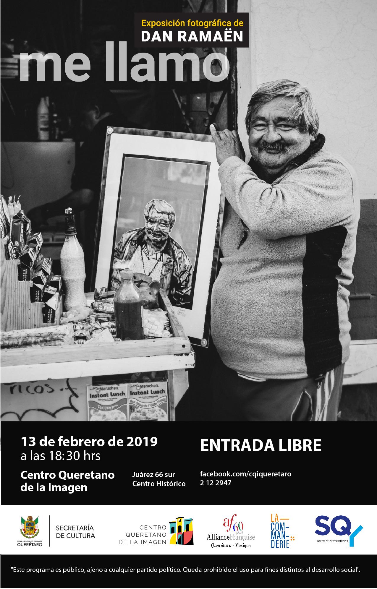 Inauguración de la Exposición fotográfica del artista Dan Ramaën – Me llamo