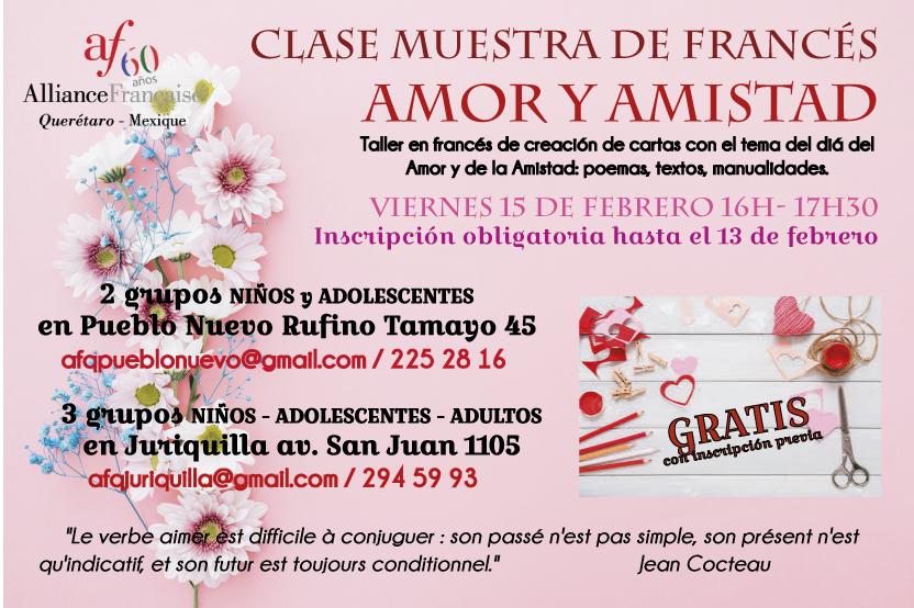 CLASE MUESTRA AMOR Y AMISTAD