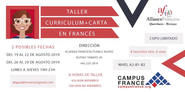 TALLER DE CV Y CARTA EN FRANCÉS