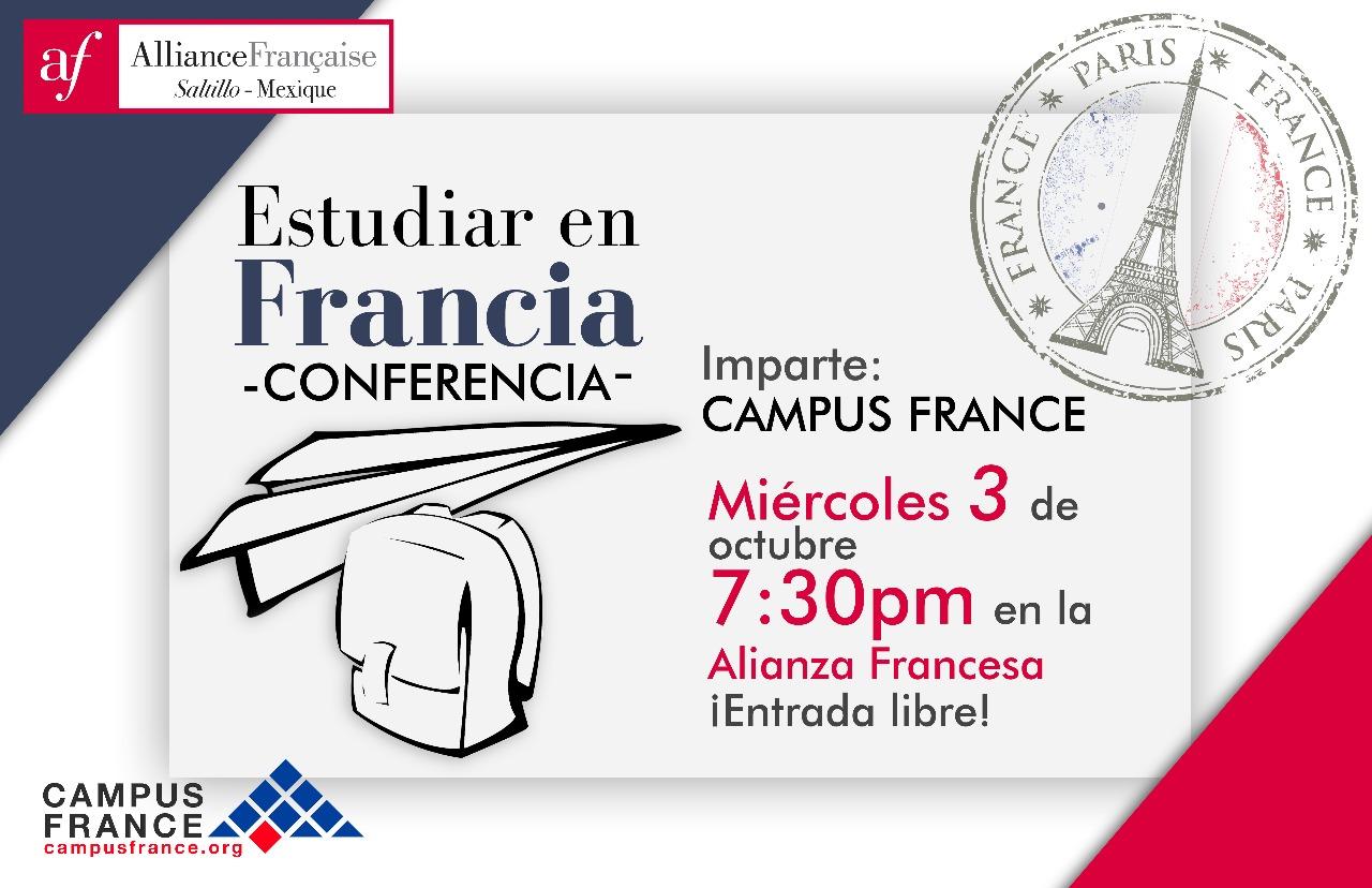 Conferencia: Estudiar en Francia