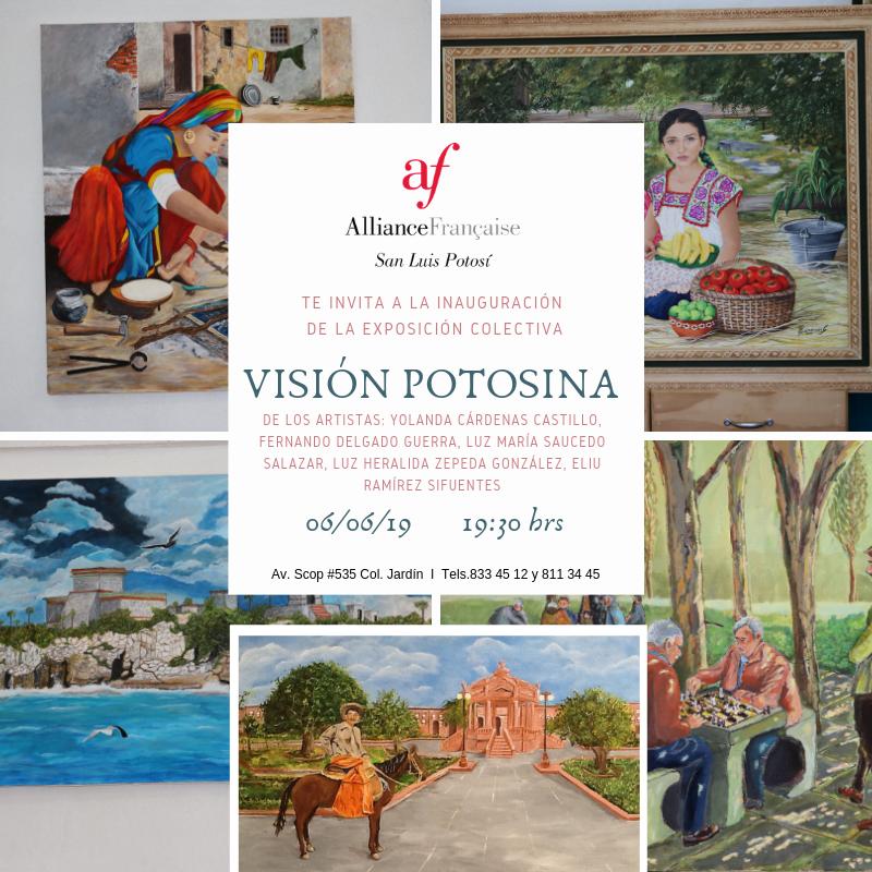 Inauguración exposición colectiva Visión Potosina