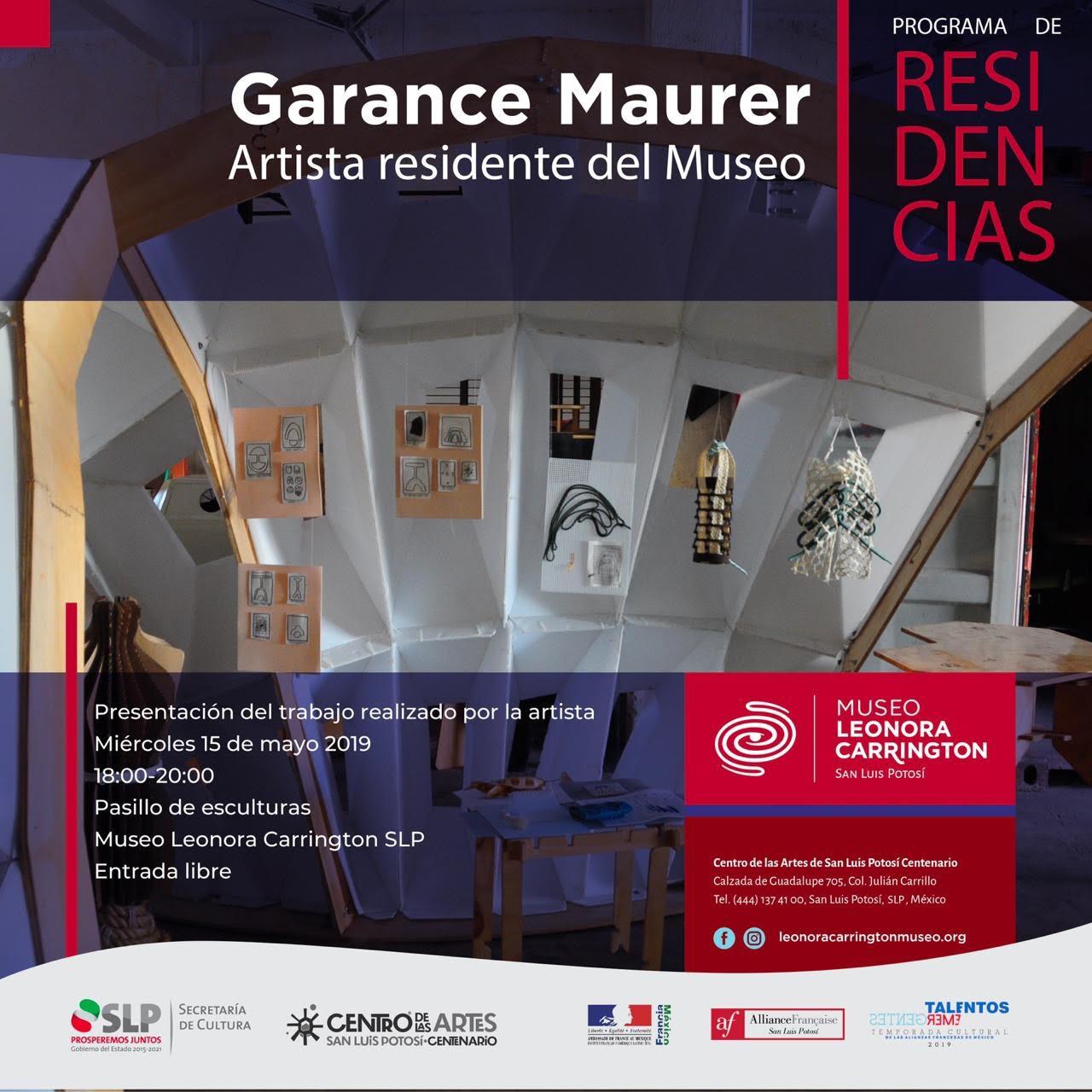 La artista francés #GaranceMaurer presenta su trabajo