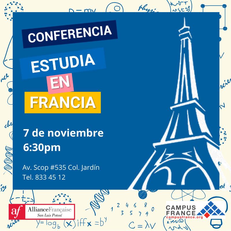 Conferencia estudia en Francia