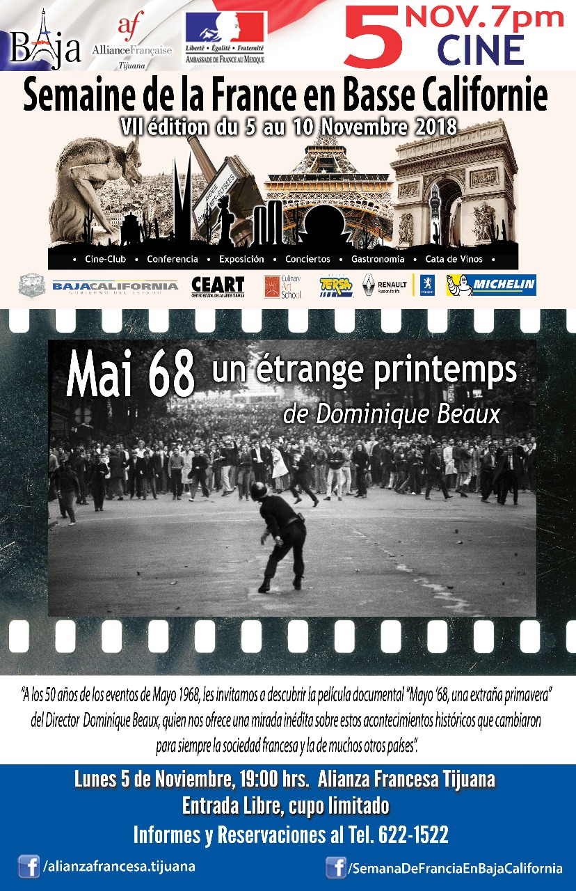 Semana de Francia en BC: lunes 5/11/2018