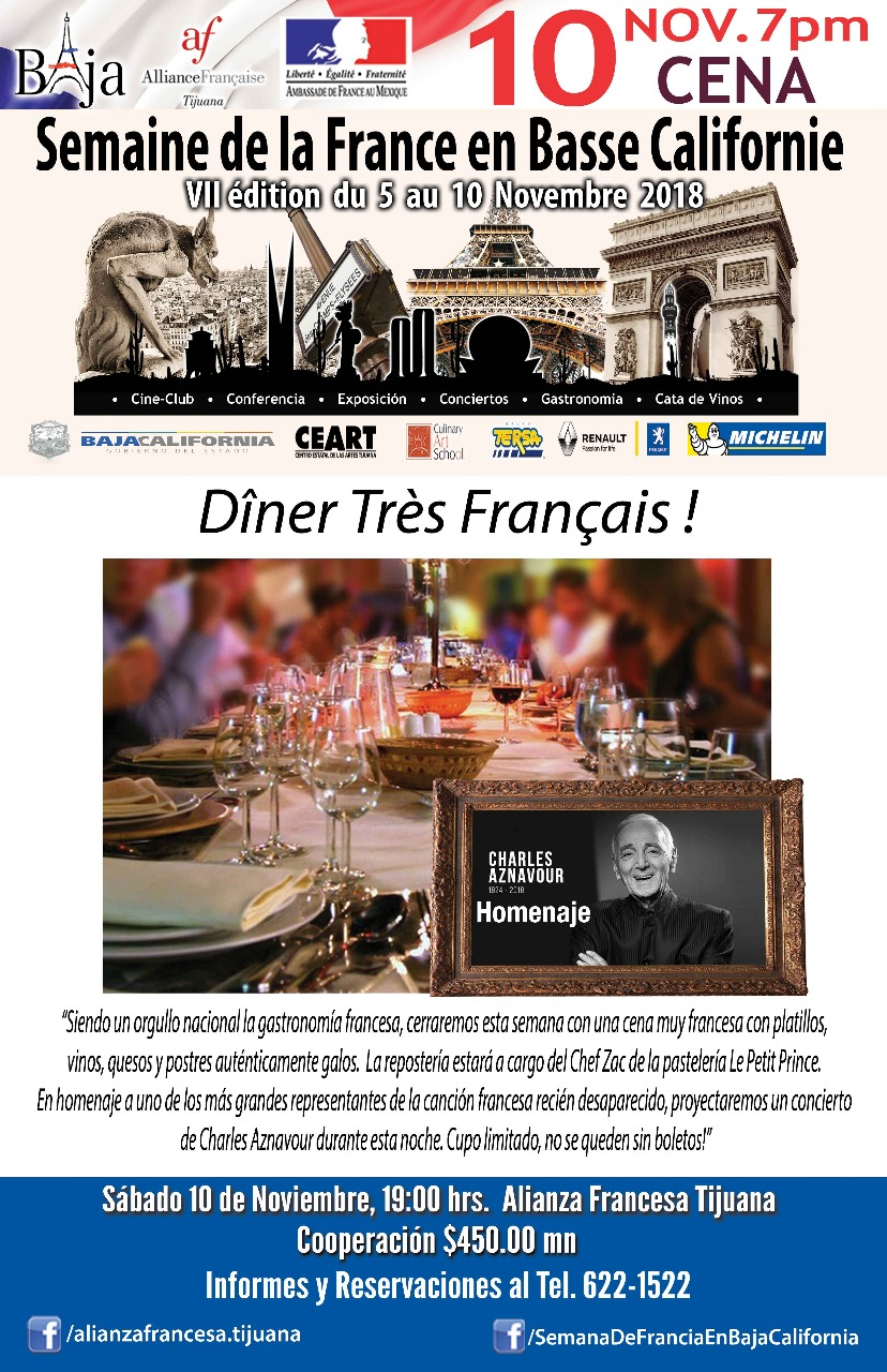 Semana de Francia en BC: sábado 10/11/2018
